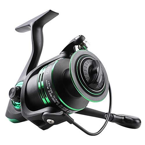 Reel giratorio Agua salada carrete de la pesca de la serie 1000-7000 12BB + 1 bolas de rodamiento de giro de la rueda de bobina de metal Pesca 5.2: Serie 1 pescado Carrete Aparejos-green_7000 carretes