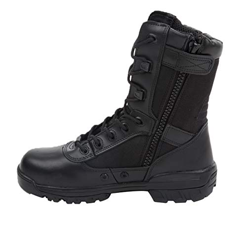 Thowi Men's Military Tactical Boots Army Jungle Boots with Zipper(Black,Size11)
