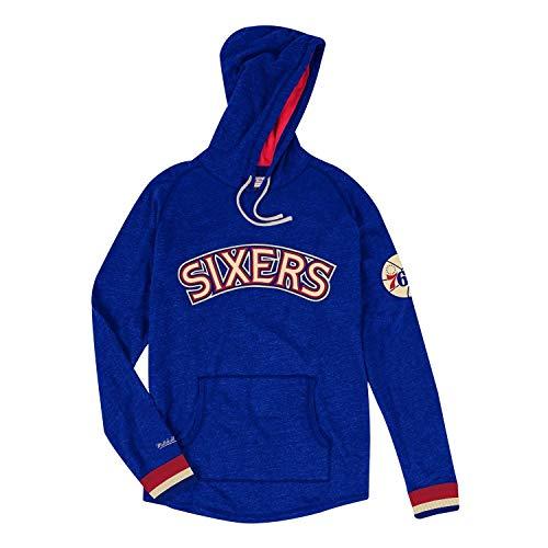 Mitchell & Ness Philadelphia 76ers Lightweight Pullover NBA Hoodie Blau, S