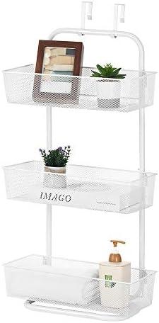 Over the Door Basket Rack Free Standing 3 Tier Hanger Organizer Storage Basket Hanging Mesh product image