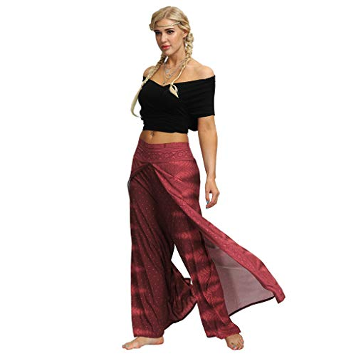 ODJOY-Fan Pantaloni Harem Donna Larghi da Yoga Estivi della Tuta di Boho Allentati Casuali delle Donne Casual Indonesiani con Stampa Digitale Costume Bagno Eleganti
