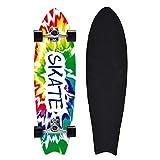 YHNJI Completo Skateboard para Principiantes 31'x8', 8 Capas de Madera de Arce Monopatin para Niños Niñas Adolescentes Jóvenes, Cruiser Trick Patinetas con Rodamientos ABEC-9, Carga de 150 Kg