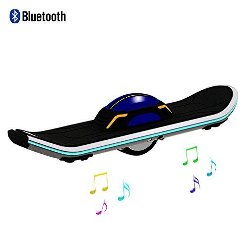 Skque Monopattino Elettrico, reg; Mono Ruota Skateboard Elettrico Auto Bilanciamento Monopattino per Adulti con Altoparlante Bluetooth