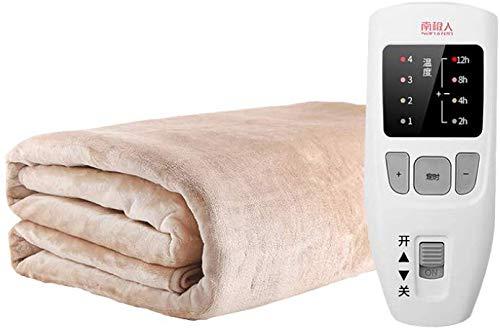 GJJSZ Manta eléctrica de Control único, Manta calefactora Grande con Controlador y...