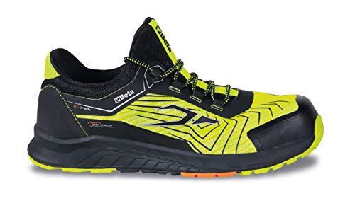 Beta 7353Y 44 – Zapatos Bajos de Seguridad Beta 0-Gravity Amarillo/Negro, Zapatos de Trabajo Ligeros, Empeine de Tejido de Malla de Alta transpiración y Malla Reflectante, Suela de EVA