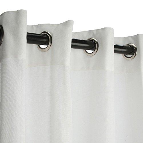 Sunbrella Sheer Snow Outdoor Curtain with Nickel Grommets (50 x 84)