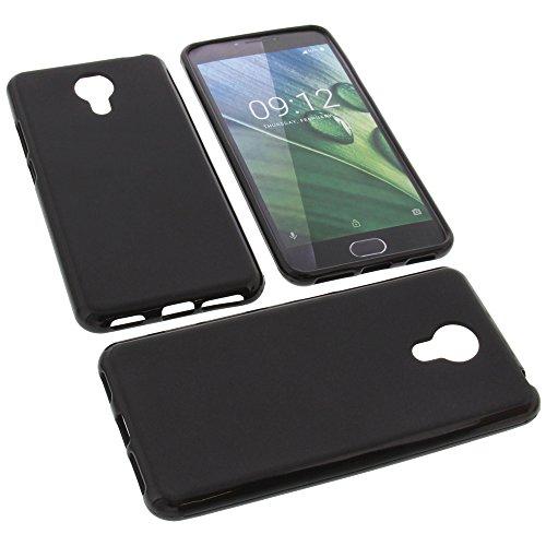 foto-kontor Tasche für Acer Liquid Z6 Plus Gummi TPU Schutz Handytasche schwarz