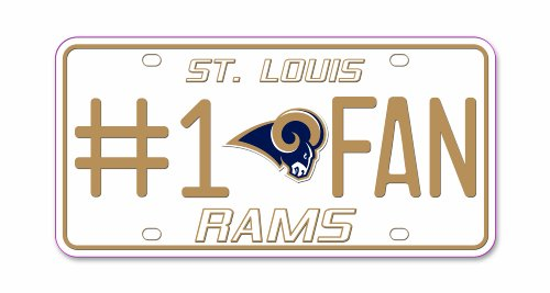 NFL St. Louis Rams # 1Fan Metall Tag