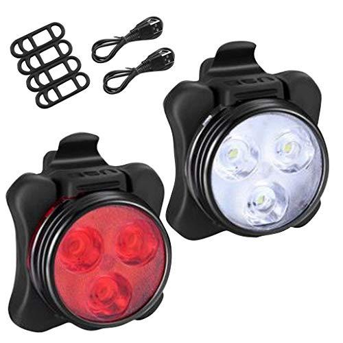 Fahrradlicht Set, USB Wiederaufladbare Fahrradbeleuchtung, Wasserdicht Mountainbike Fahrradlichter Fahrrad Vorne Hinten Licht Frontlicht Rücklicht Set Fahrradlampe für Mountainbike Rennräder (Set)