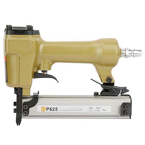 Qazxsw P625 Pistola de Clavos neumática Grapadora de Aire Clavadora de Aire Grapadora de Aire para Clavo de Grano 100 Piezas, Longitud 10-25 mm