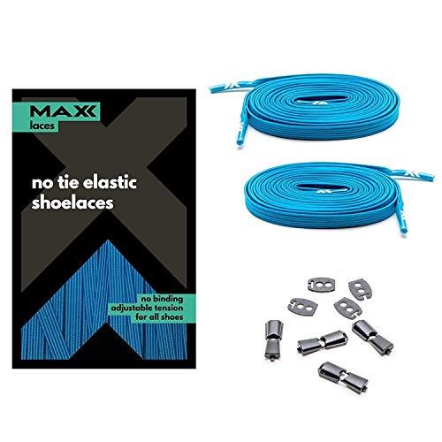 MAXX laces Flache elastische Schnürsenkel mit Einstellbarer Spannung Schuhbänder ohne Binden komfortable Schuhbinden einfach zu bedienen Passt zu jedem Schuh