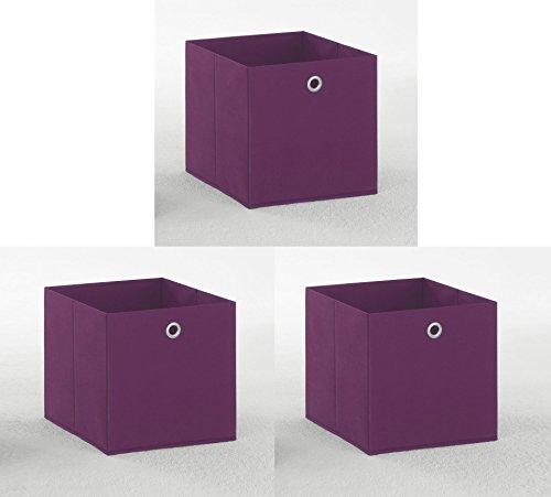 3er Set Faltbox lila