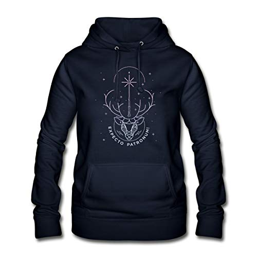Harry Potter Hirsch Expecto Patronum Frauen Hoodie, M, Navy