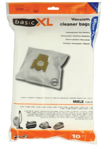 Bundle Of 3Packungen Basic XL Micro Fleece Staubsaugerbeutel fjm-gn jede Packung mit 10Staubsaugerbeutel je