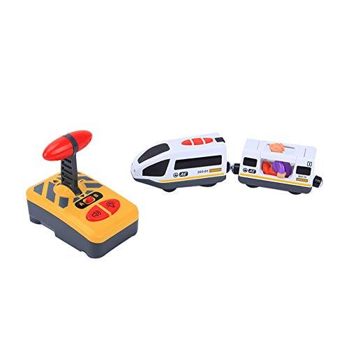 Elektrische Bahn mit Fernsteuerung, Elektrische Lok, Kid Electric Magnetic Train Toy - kompatibel mit für Thomas IKEA BRIO Holzbahn für Kinder Geburtstagsgeschenk - Puppen nach dem Zufallsprinzip