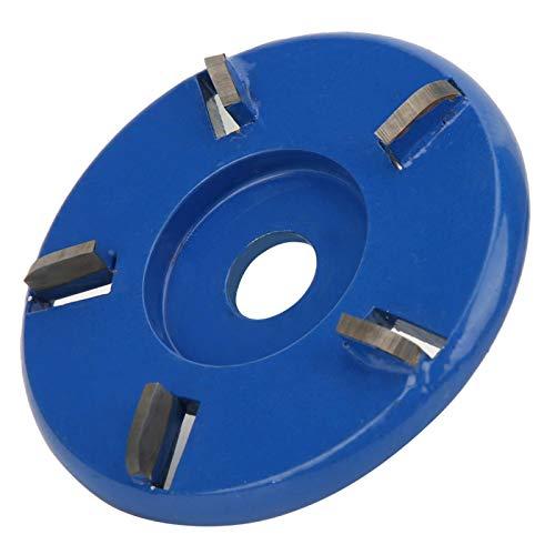 EVTSCAN Holzschneidscheibe, 5 Zähne Lichtbogenförmige Holzschneidscheibe Hocheffiziente Holzbearbeitungs-Winkelschleifmaschine Carving Polishing Tool(Blau)