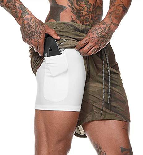 (ビベター)Bebetter ハーフパンツ メンズ スポーツ トレーニングパンツ ショートタイツ付き ランニングショーツ シンプル ショートパンツ 吸汗速乾 ジムウェア XL