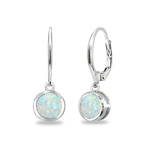 Top opal dangle earrings sterling bezel set for 2021
