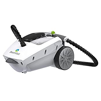Steamfast SF-375 Deluxe Canister Cleaner with 18 Accessories Continuous Steam Trigger and Onboard Storage White
