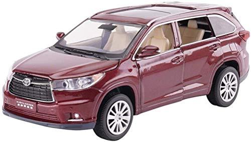 modelo de construcción de coches, Modelo de simulación de automóvil Modelo de automóvil Modelo Overbearing Modelo de auto 1/32 Modelo de coche de juguete para niños - Rojo de vino / Negro / Blanco Reg