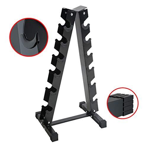 Hantel Storage Rack Six-Schicht Hantel Baum Haus Hantel Hantel Rack Gym Triangle Hantel Rack (ohne Hanteln) (Color : Black, Size : 60 * 45 * 100cm)