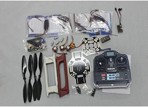 XuBa RC 4-Achser Multi Heli Quadcopter UFO ARF Kit  F450 Rahmen + A2212 Motor + Hobby Wing ESC + CF Pros + 6CH TX RX F02192-G Wie abgebildet