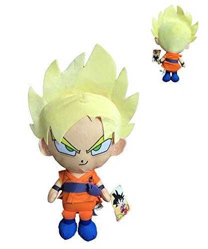 PBP Dragon Ball Super - Peluche Goku Super Saiyan, capelli biondi 22cm Qualità super soft
