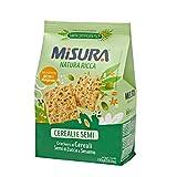 Misura Crackers ai Cereali Natura Ricca | con Semi di Zucca e Sesamo | Confezione da 230 grammi