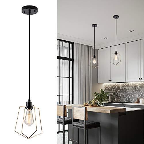 Mini lampe à suspension contemporaine et moderne pour l'îlot de cuisine, la salle à manger (sans ampoule)(1 Lumière)
