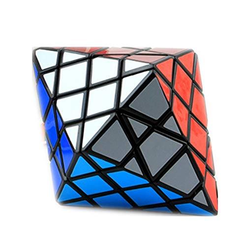 JIAMIN Rubik's Cube - Cubo mágico de 8 esquinas, solo dipirámide octogonal, modo de forma de 4 x 4, rompecabezas para niños, juguetes educativos, cubo de Rubik (color: negro)