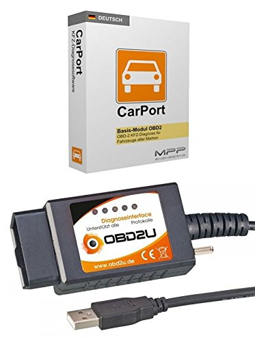 USB OBD 2 Diagnose-Interface DEUTSCHE SOFTWARE Carport für viele Fahrzeuge