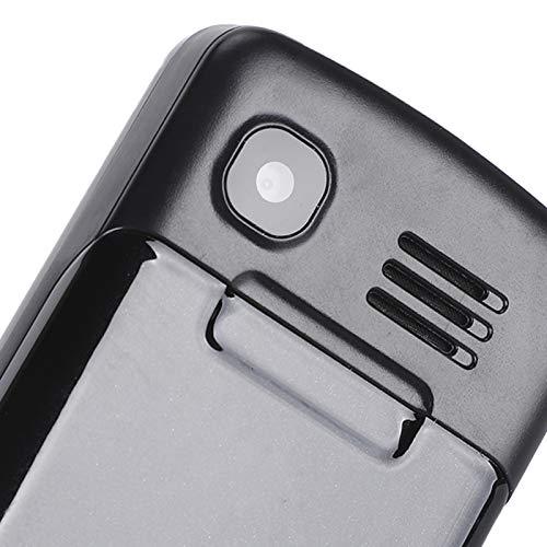 Teléfono móvil Recto, teléfono móvil con botón de Desgaste, tamaño Compacto de 1,44 Pulgadas para Personas Mayores Que operan con una Sola Mano(Black, Transparency)