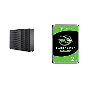 Seagate Expansion Desktop 4TB External Hard Drive HDD & Barracuda 2TB Internal Hard Drive HDD – 3.5 Inch SATA 6Gb/s 7200 RPM 256MB Cache 3.5-Inch – Frustration Free Packaging  ST2000DM008