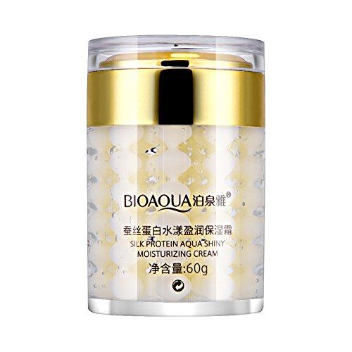 Crema Hidratante Facial Antienvejecimiento Proteína de Seda Ácido...