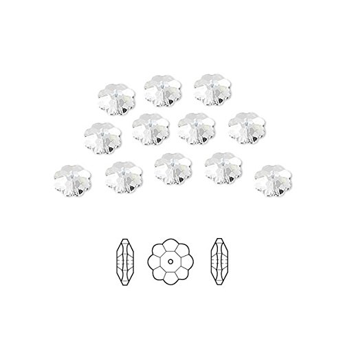 Swarovski Crystal Beads Faceted Marguerite Flower 3700 Clear 6x2mm Package of 12