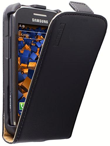 mumbi Tasche Flip Hülle kompatibel mit Samsung Galaxy Ace 2 Hülle Handytasche Hülle Wallet, schwarz