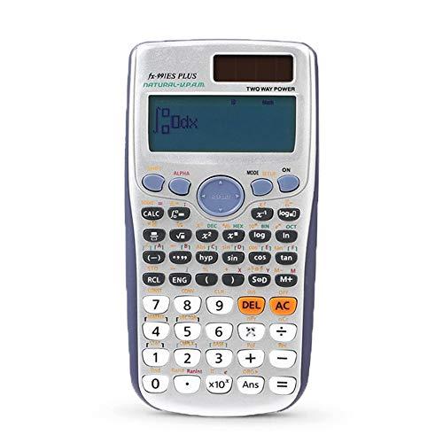 LCLLXB Wissenschaftlicher Taschenrechner Dual-Power (Solar und Batterie) Tischtaschenrechner Nicht Programmierbarer Taschenrechner für Schule Prüfung Taschenrechner mit Exponentialfunktion
