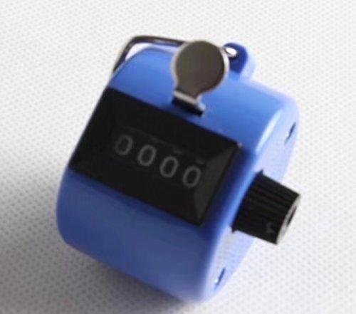 Doyeemei - Contador de baloncesto de mano (4 dígitos), color cromo