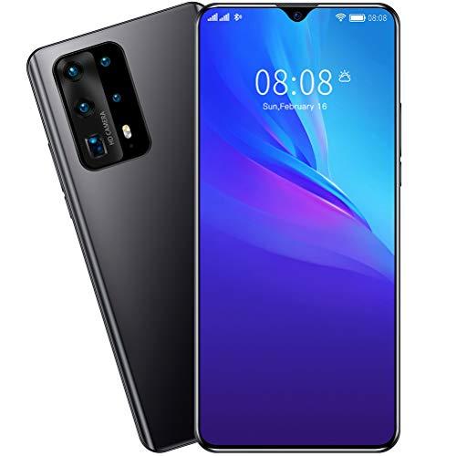 ZXYSR P41pro Smartphone Android, 7,0 Zoll Wassertropfen Sieb MTK6799 Prozessor 8 GB + 128 GB Simlockfreie Handys 4800Mah Batterie 13MP + 24MP Pixel, Handy,Schwarz