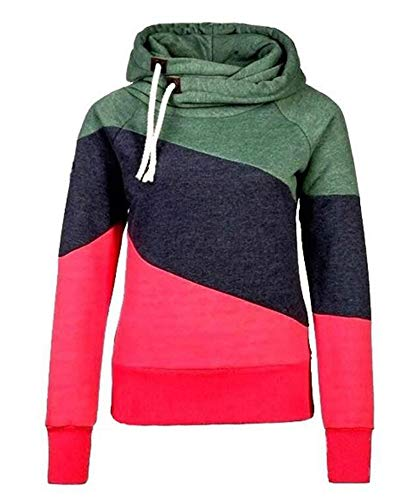 Babao Womens Coltrui Trekkoord Colorblock Hoodies
