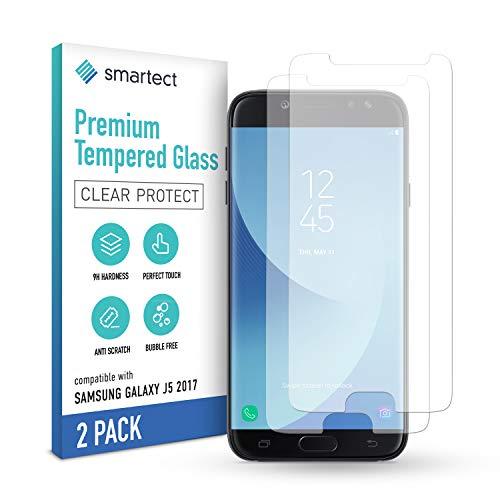 smartect Schutzglas kompatibel mit Samsung Galaxy J5 2017 [2 Stück] - Tempered Glass mit 9H Festigkeit - Blasenfreie Schutzfolie - Anti-Kratzer Bildschirmschutzfolie
