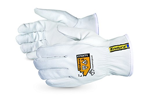 Superior Goatskin Leather Work Gloves - Kevlar Lined Cut Resistant, Arc Flash Safety Work Gloves (Endura-378GKTFG) Medium