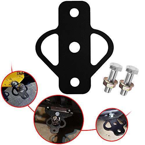 ELITEWILL Steel ATV 3-Way Trailer Hitch Adapter for Golf Cart Garden Tractor Lawn Mower Chain and Tow Strap