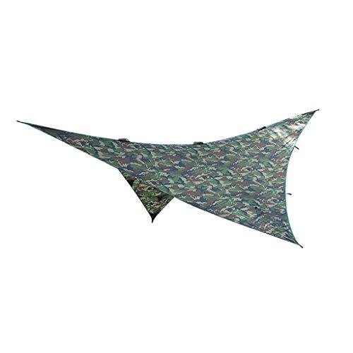Générique Non-Brand Voiles D'ombrage Étanche Couverture en Polyester pour Camping Tente Jardin - Camouflage-A, 2.74 x 2.74 M