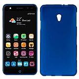 MB ACCESORIOS Funda Silicona Azul para ZTE Blade V7/V7 Lite