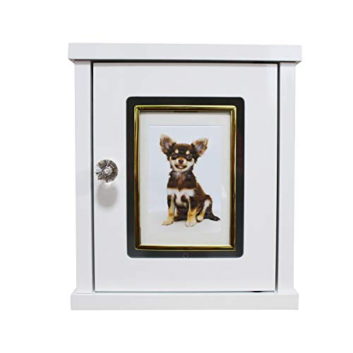 ペット用ミニ仏壇 メモリアルボックス ホワイト フォトフレームゴールド枠