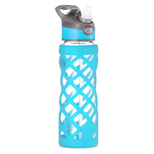 Best glass water bottle with silicone sleeve