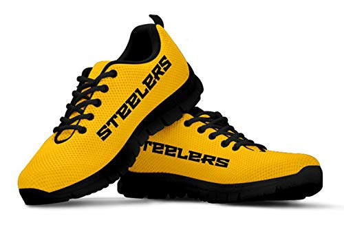Pittsburgh Themed Casual Athletic Running Shoe Mens Womens Sizes Apparel and Gifts for Men and Women (Mens, 14)