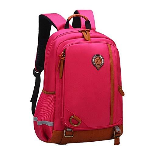 Escuela de los niños Bolsas Impermeables morral Bolsos de Escuela de Nylon for Chicos, Chicas niños Mochilas Fashion (Color : Red Large)
