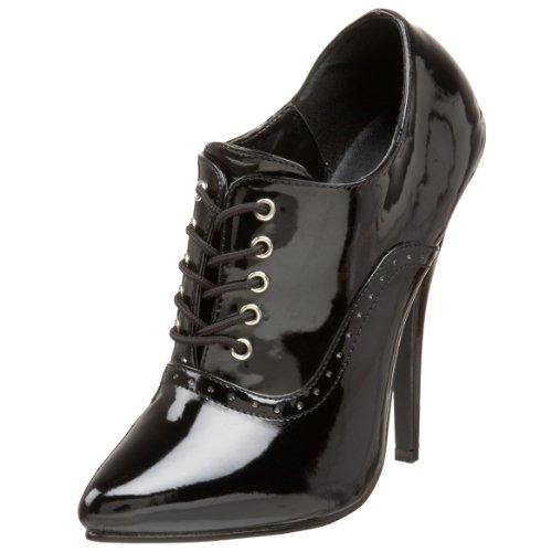 PleaserDom460/b - Zapatos de Tacón mujer, Blk Pat, talla 43 EU(10 UK)